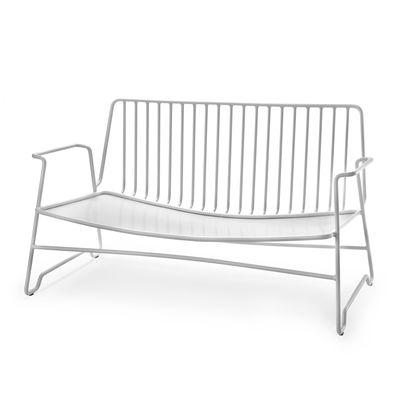 Furniture - Sofas - Fish & Fish Straight sofa - / L 131 cm - NO cushion by Serax - Sofa / White - Thermolacquered aluminium