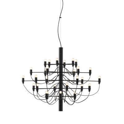 Suspension 2097 / 30 ampoules dépolies INCLUSES - Ø 88 cm - Flos noir en métal