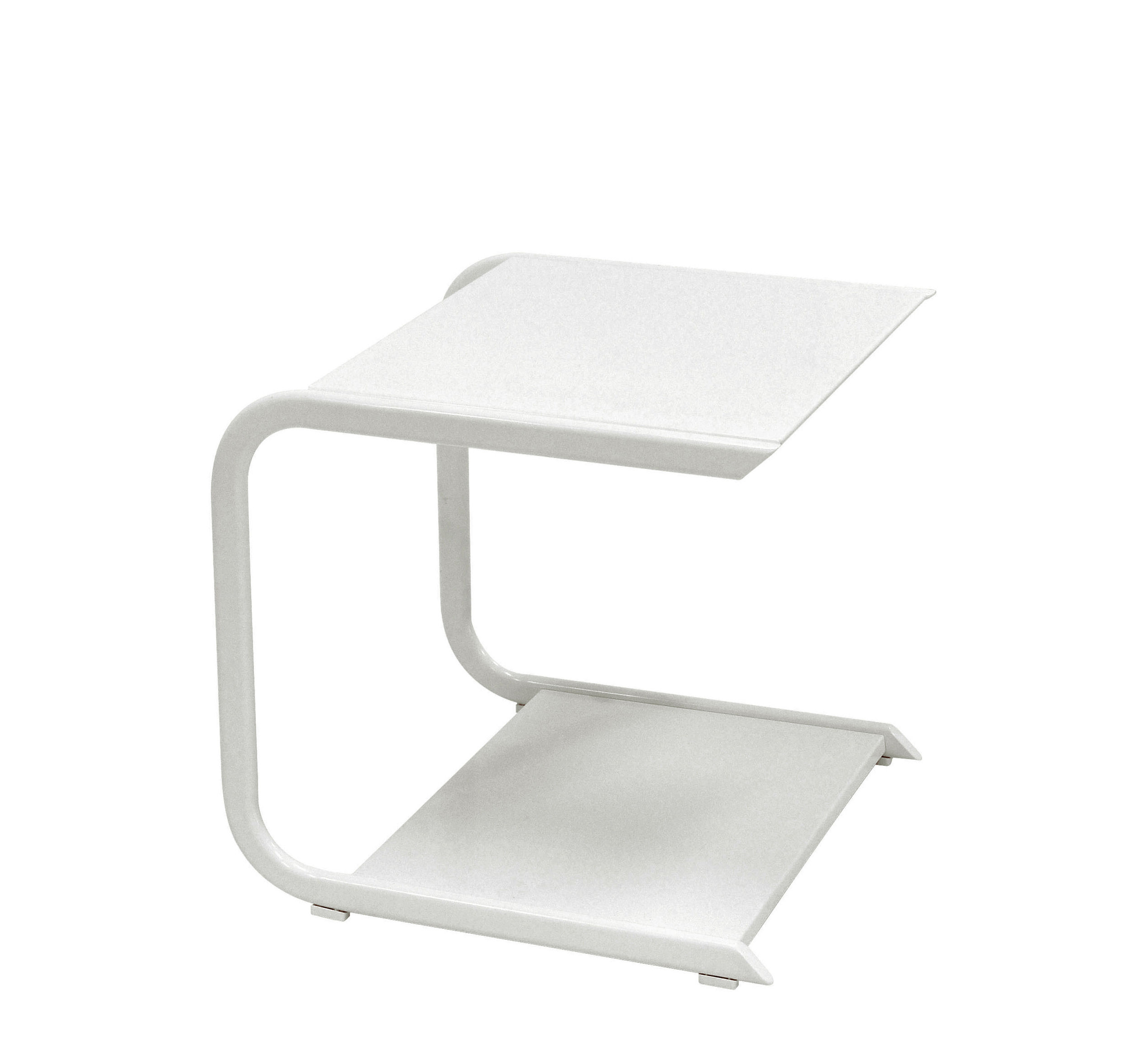 Mobilier - Tables basses - Table basse Holly / L 44 cm - Emu - Blanc - Aluminium verni, Inox