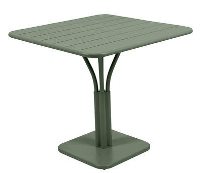 Table carrée Luxembourg / 80 x 80 cm - Pied central - Fermob cactus en métal