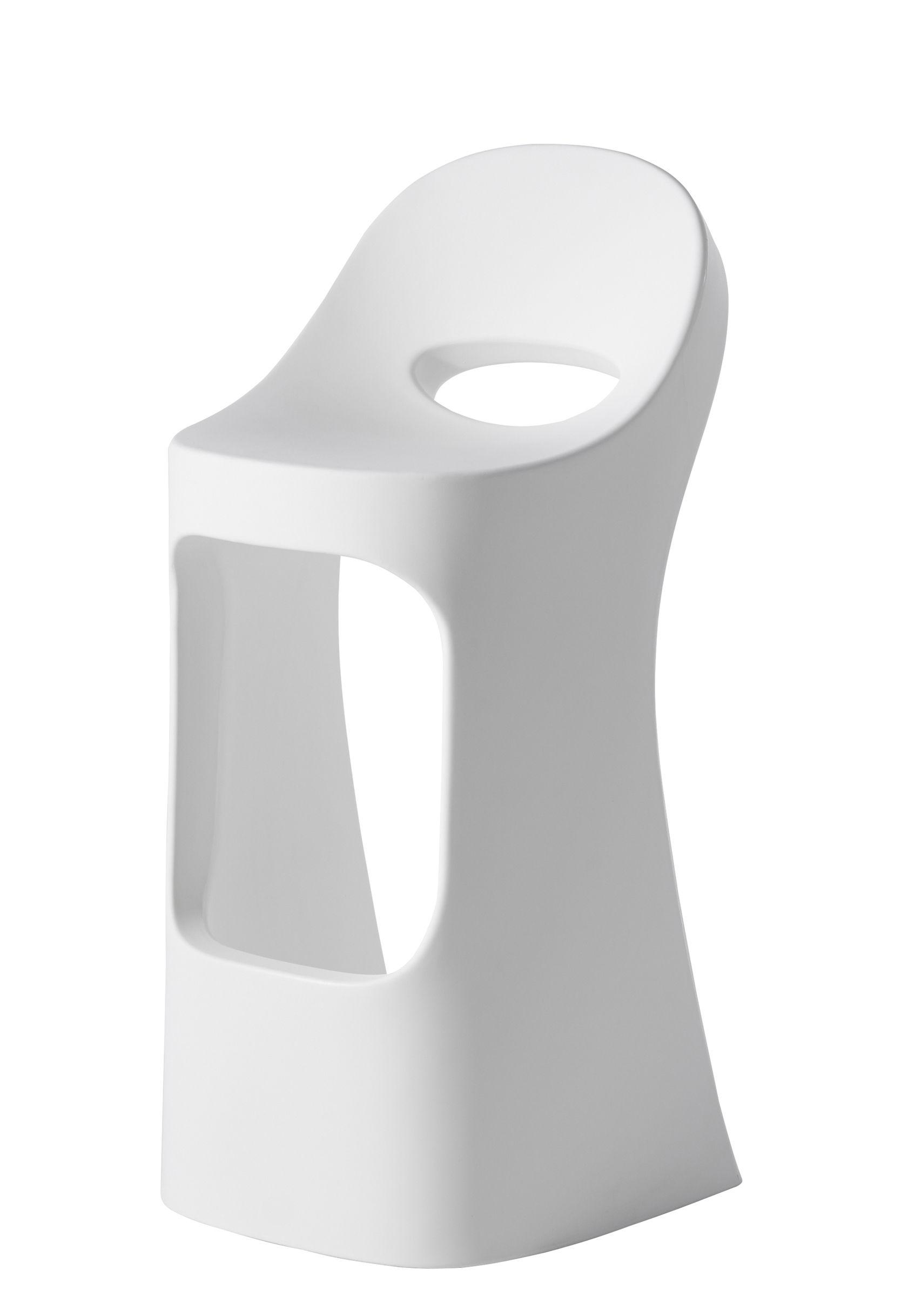 Mobilier - Tabourets de bar - Tabouret de bar Amélie Sit up / H 70 cm - Slide - Blanc - polyéthène recyclable