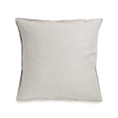 Taie d'oreiller 65 x 65 cm / Lin lavé - Au Printemps Paris beige en tissu