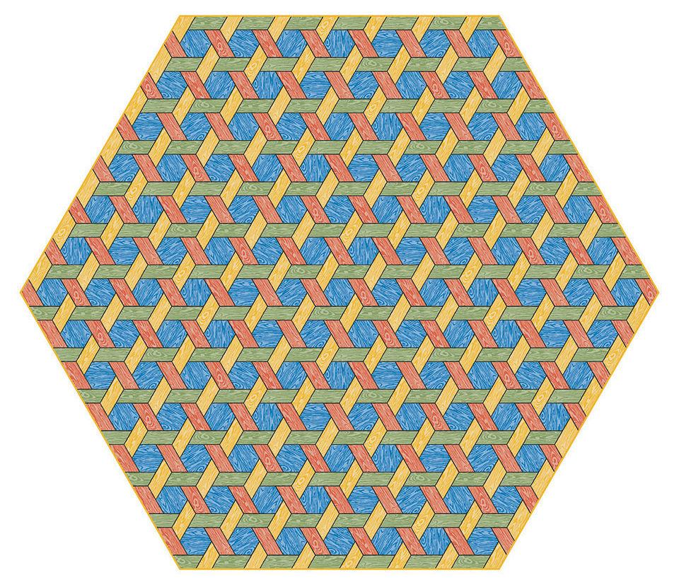 Déco - Tapis - Tapis Hexagon / 400 x 347 cm - Moooi Carpets - Multicolore - Polyamide