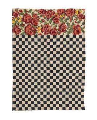 Interni - Tappeti - Tappeto per esterno Oaxaca - / Tessuto a mano - 170 x 240 cm di Nanimarquina - 170 x 240 cm / Nero & bianco - Polietilene