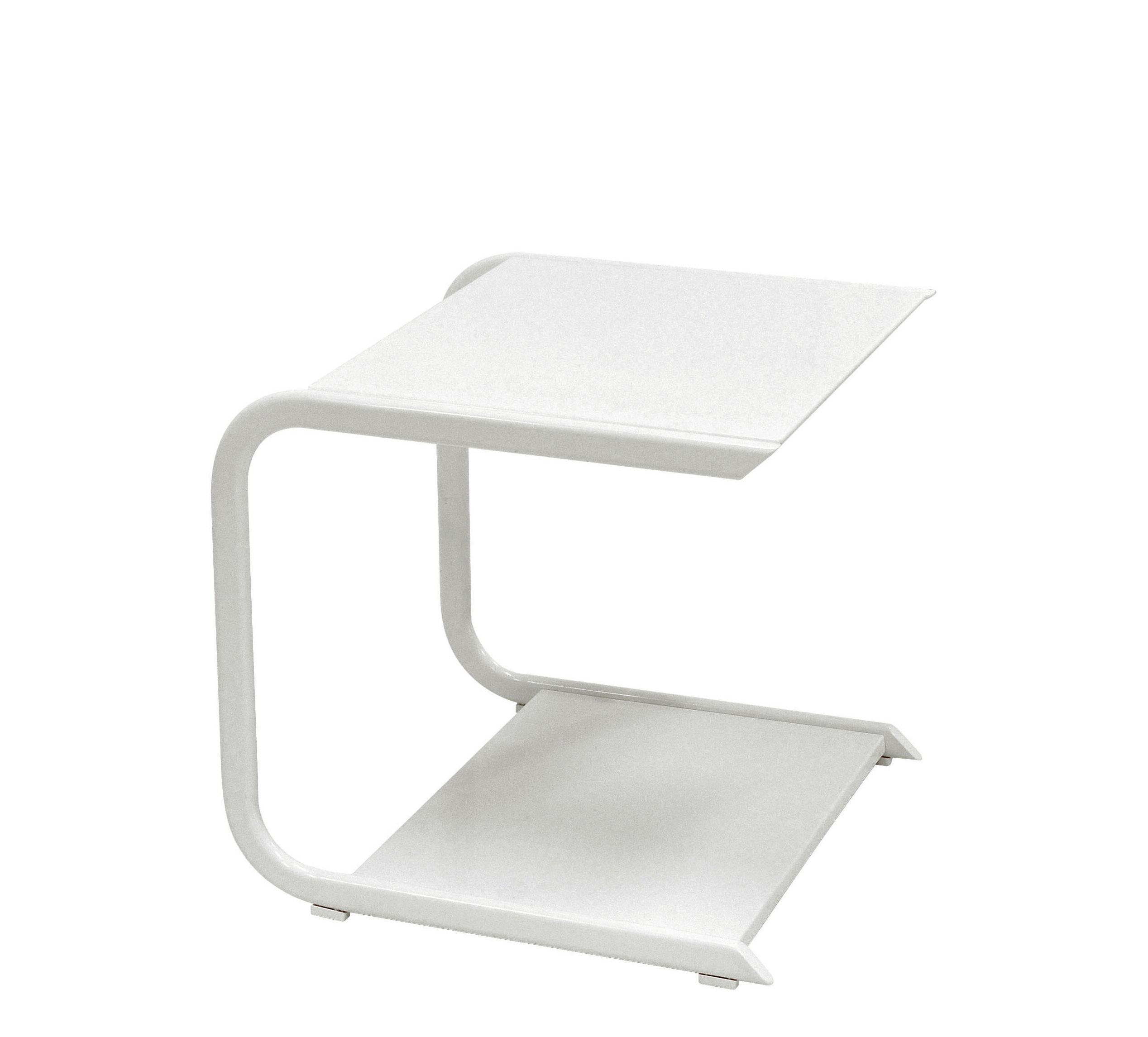 Arredamento - Tavolini  - Tavolino Holly - / L 44 cm di Emu - Bianco - alluminio verniciato, Inox