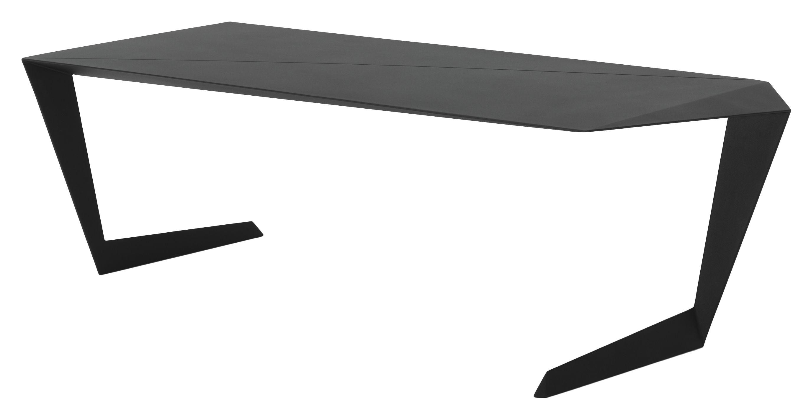 Arredamento - Mobili da ufficio - Tavolo rettangolare N-7 di Casamania - Nero - alluminio verniciato
