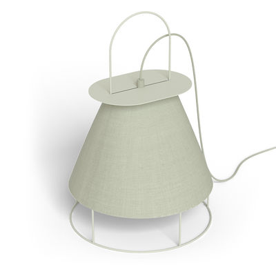 Lighting - Table Lamps - Claude Wireless lamp - / to stand or hang by Hartô - Pebble grey - Lacquered metal, Polyester fabric