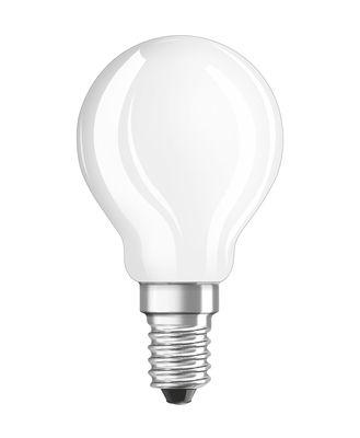 Ampoule LED E14 / Sphérique dépolie - 4,5W=40W (2700K, blanc chaud) - Osram blanc en verre
