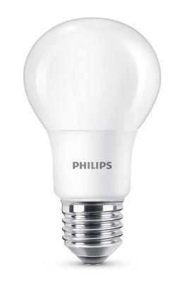 Ampoule LED E27 Standard dépolie / Dimmable - 5,5W (40W) - 470 lumen - Philips blanc dépoli en verre