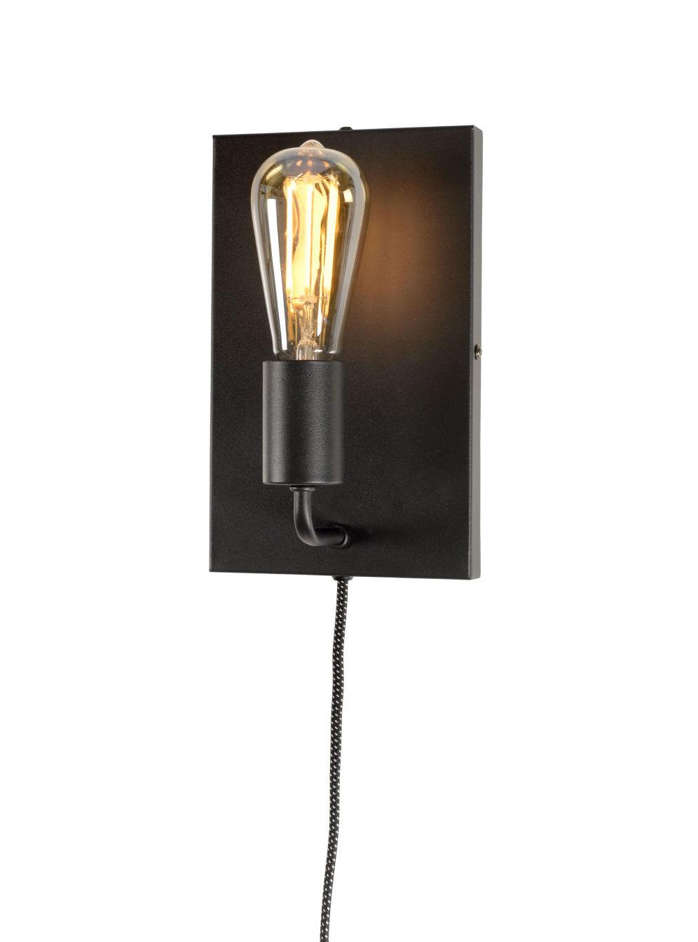 Luminaire - Appliques - Applique avec prise Madrid Large - It's about Romi - Noir - Fer peint