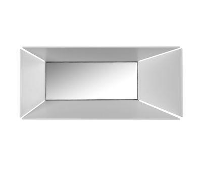 Illuminazione - Lampade da parete - Applique Narciso - / Metallo & specchio - L 28 x H 12 cm di Karman - Rettangolo / Bianco & specchio - Alluminio laccato, Vetro