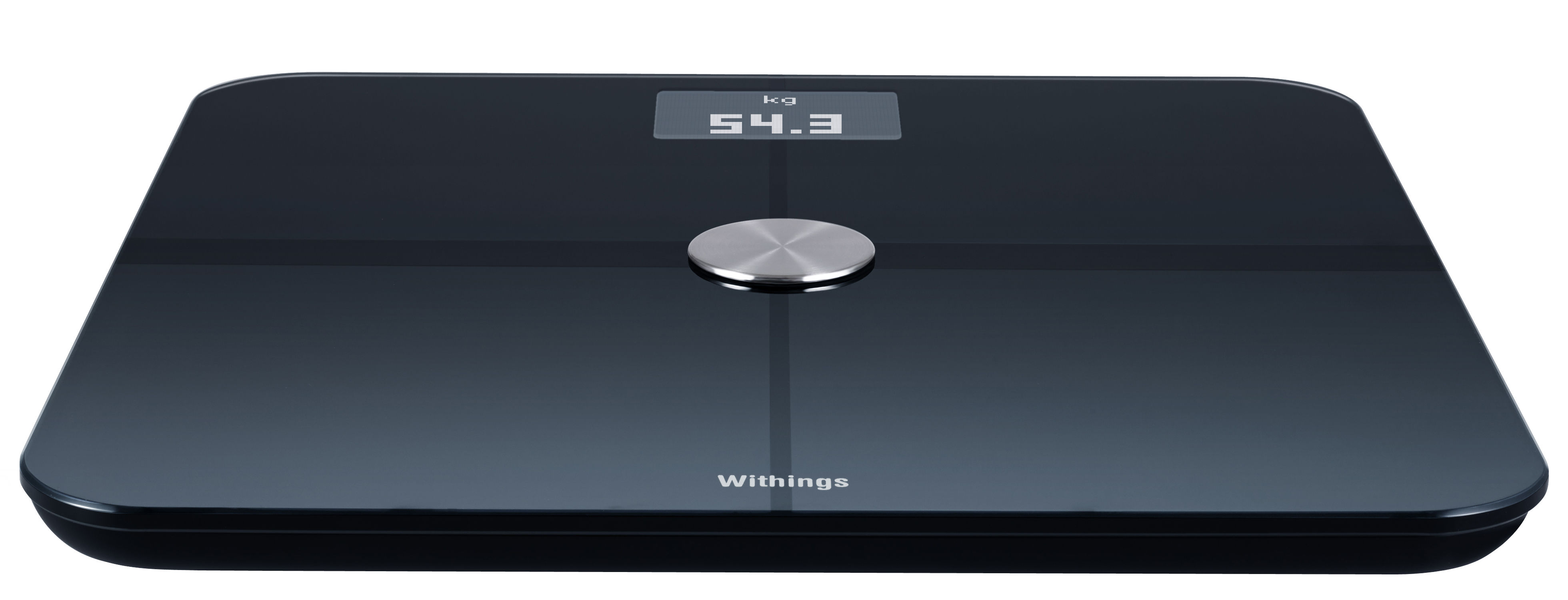 Accessoires - Accessoires salle de bains - Balance connectée Smart Body Analyser / Mesure poids, rythme cardiaque, qualité de l'air - Nokia - Noir - Acier, Polycarbonate, Verre trempé
