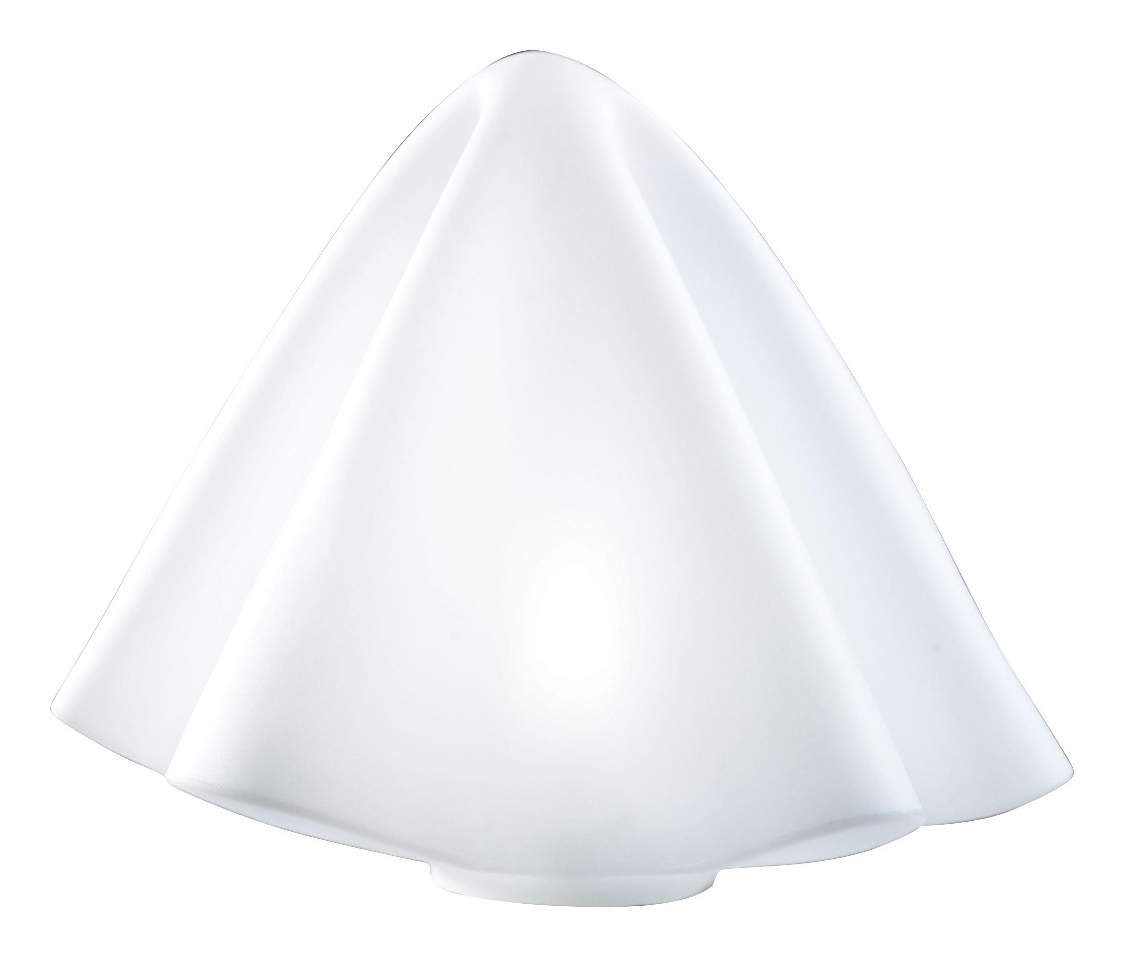 Leuchten - Tischleuchten - Manteau Bodenleuchte H 45 cm / Tischlampe - Slide - Weiß - polyéthène recyclable