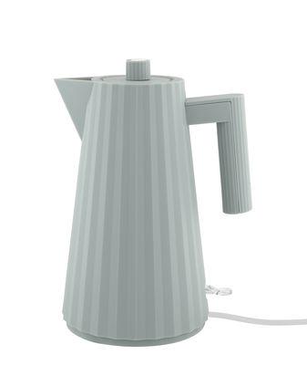 Cucina - Teiere e Bollitori - Bollitore elettrico Plissé - / 1,7 L di Alessi - Grigio scuro - Resina termoplastica