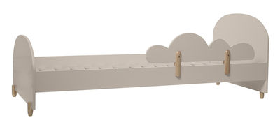Furniture - Beds - Nuage Children bed by Bloomingville - Taupe / Wood - Lacquered MDF, Natural solid pine