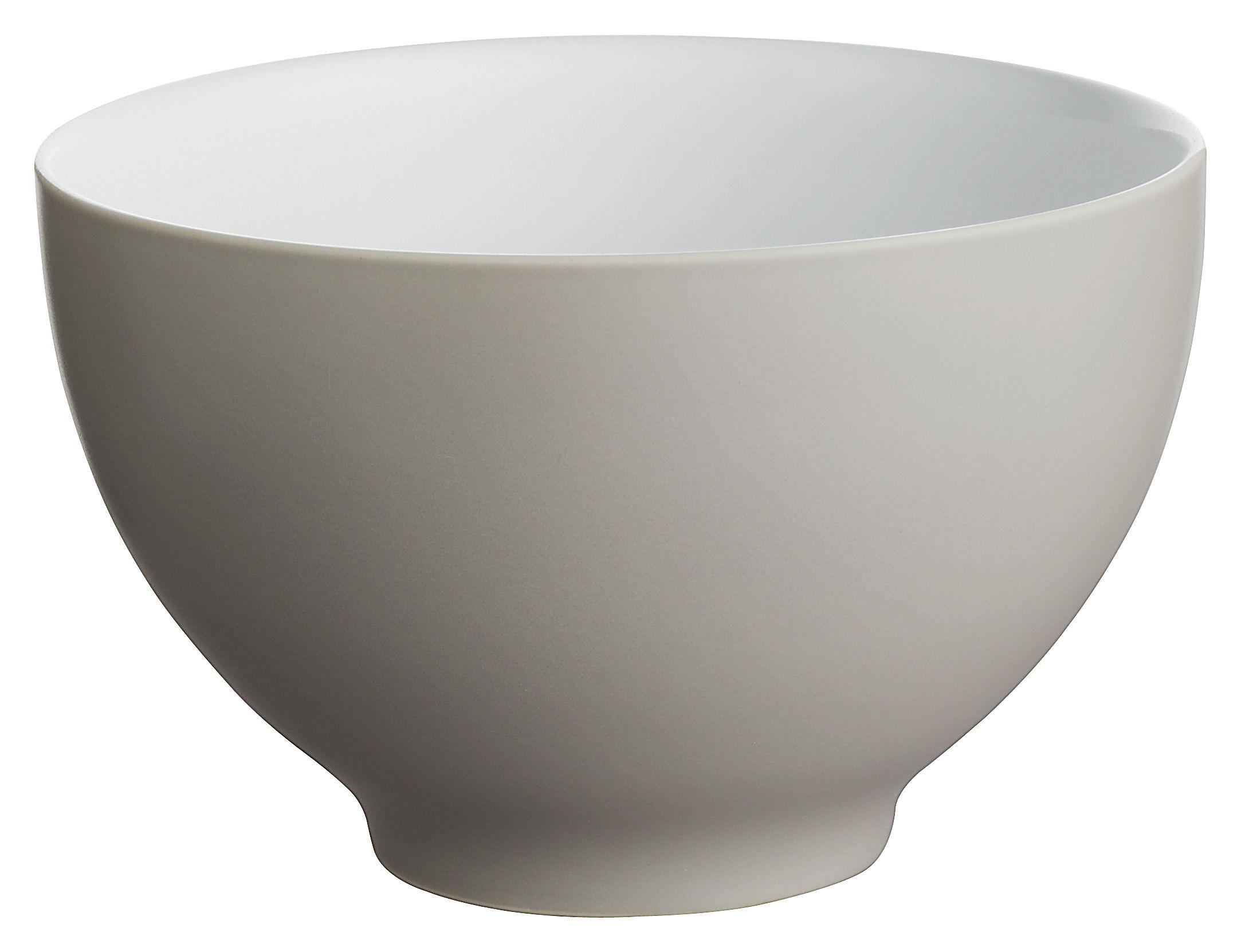 Tavola - Ciotole - Ciotola Tonale - Ciotola grande di Alessi - Grigio chiaro/interno bianco - Ceramica stoneware