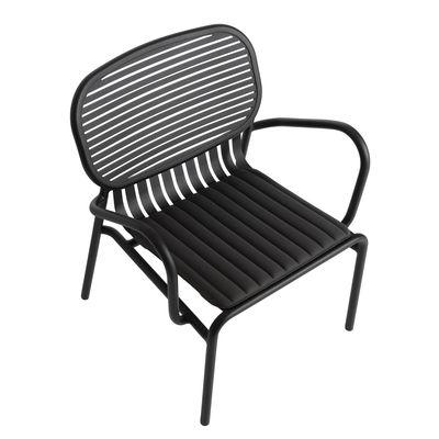 Coussin d'assise Week-End / Large - 48 x 42 cm - - Petite Friture gris/noir en tissu