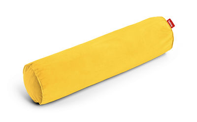 Coussin Rolster Velvet / Velours - Ø 20 x L 77 cm - Fatboy jaune en tissu