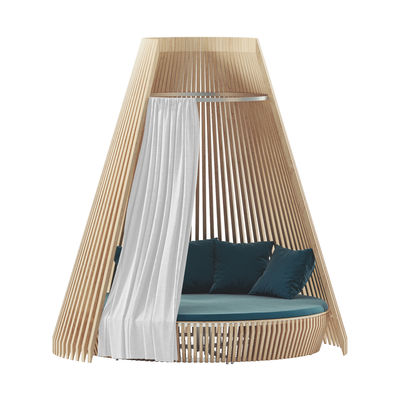 Outdoor - Poufs, Cushions & Rugs - Curtain - / For Hut round sofa by Ethimo - White - Acrylic fabric