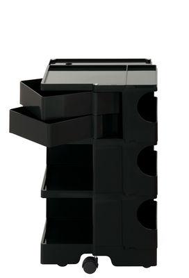 Desserte Boby / H 73 cm - 2 tiroirs - B-LINE noir en matière plastique