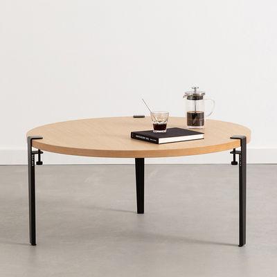 Möbel - Couchtische - Fuß aus Stahl mit Klammersystem / H 43 cm - Um Couchtische & Bänke zu gestalten - TipToe - Graphit-Schwarz - thermolackierter Stahl