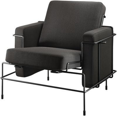 Möbel - Lounge Sessel - Traffic Gepolsterter Sessel - Magis - Bezug dunkelbraun / Gestell schwarz - Fil d'acier verni, Kvadrat-Gewebe, Polyurethan-Schaum