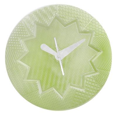Déco - Horloges  - Horloge murale Crystal Palace / Ø 19 cm - Kartell - Vert - Technopolymère thermoplastique