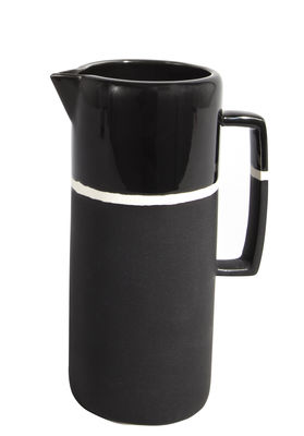 Tableware - Water Carafes & Wine Decanters - Sicilia Jug by Maison Sarah Lavoine - Black radish - Painted enameled stoneware