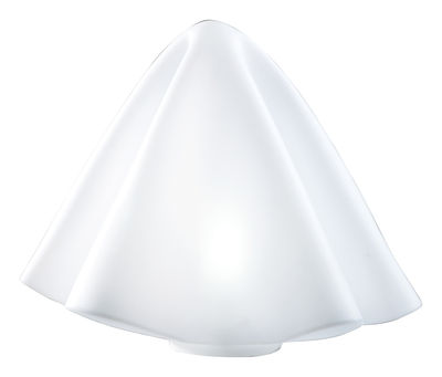 Illuminazione - Lampade da tavolo - Lampada da pavimento Manteau - H 45 cm di Slide - Bianco - polietilene riciclabile