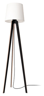 Luminaire - Lampadaires - Lampadaire Stehleuchte n1 / H 178 cm - Artificial - Pop Corn - Noir & blanc - Contreplaqué de hêtre, Métal, Tissu