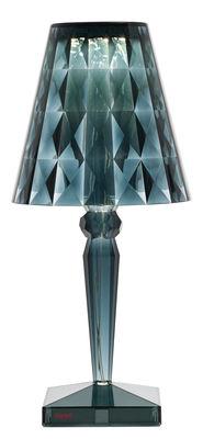 Lampe de table Big Battery LED / H 37 cm - Sur secteur - Kartell bleu clair en matière plastique