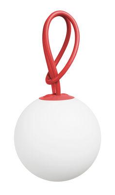 Leuchten - Tischleuchten - Bolleke Lampe ohne Kabel LED - für Haus und Garten - mit USB-Ladefunktion - Fatboy - Rot - Polyäthylen, Silikon