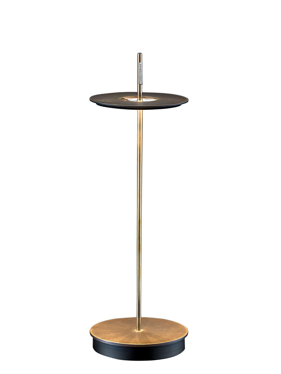 Luminaire - Lampes de table - Lampe sans fil Giulietta BE / LED - H 37 cm - Catellani & Smith - Laiton patiné - Laiton patiné