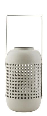 Déco - Bougeoirs, photophores - Lanterne Panel / Métal - H 20 cm - House Doctor - Gris - Fer