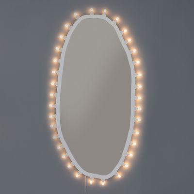 Miroir lumineux Luminaire Large / 72 x 150 cm - Ampoules incluses - Seletti blanc en verre