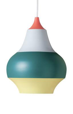 Lighting - Pendant Lighting - Cirque Pendant - Ø 15 x H 19 cm / Aluminium by Louis Poulsen - Red bottom / Multicolored - Painted aluminium