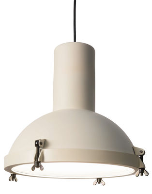 Lighting - Pendant Lighting - Projecteur 365 Pendant by Nemo - White sand - Opal Glass, Painted aluminium