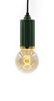 Riviera Pendelleuchte / Ø 6 cm x H 14 cm - Keramik - Maison Sarah Lavoine - Grün,Gold