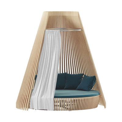 Jardin - Poufs, coussins & tapis d'extérieur - Rideau / Pour canapé rond Hut - Ethimo - Blanc - Tissu acrylique