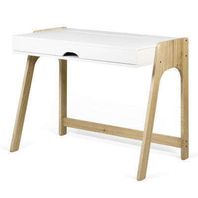 Scrivania In Legno Bianco.Scrivania Willbe Di Pop Up Home Bianco Legno Naturale Made In Design