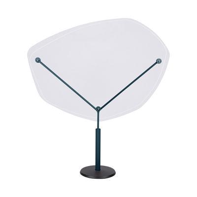 Mobilier - Compléments d'ameublement - Séparateur de table autoportant Abelio / Sur pied - Plexiglass / H 150 x L140 cm - Fermob - Bleu Acapulco - Acier peinture poudre, Fonte, Plexiglass