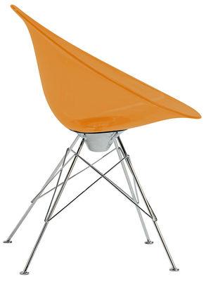 Ero/S/ Sessel Transparent - 4 Füße - Kartell - Orange transparent
