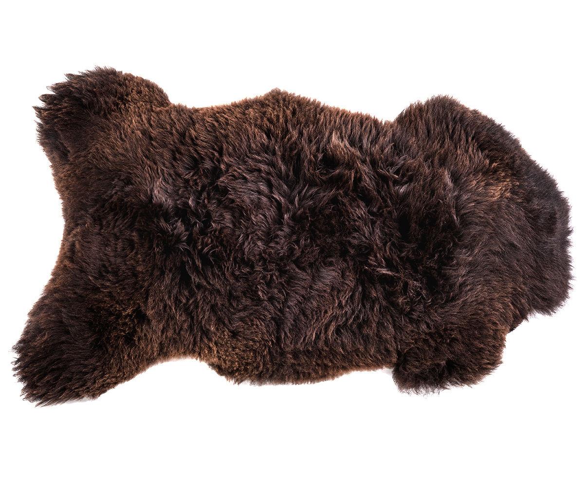 Decoration - Rugs - One Moumoute Sheepskin - 65 x 110 cm by FAB design - Short hair / Marron - Sheep skin
