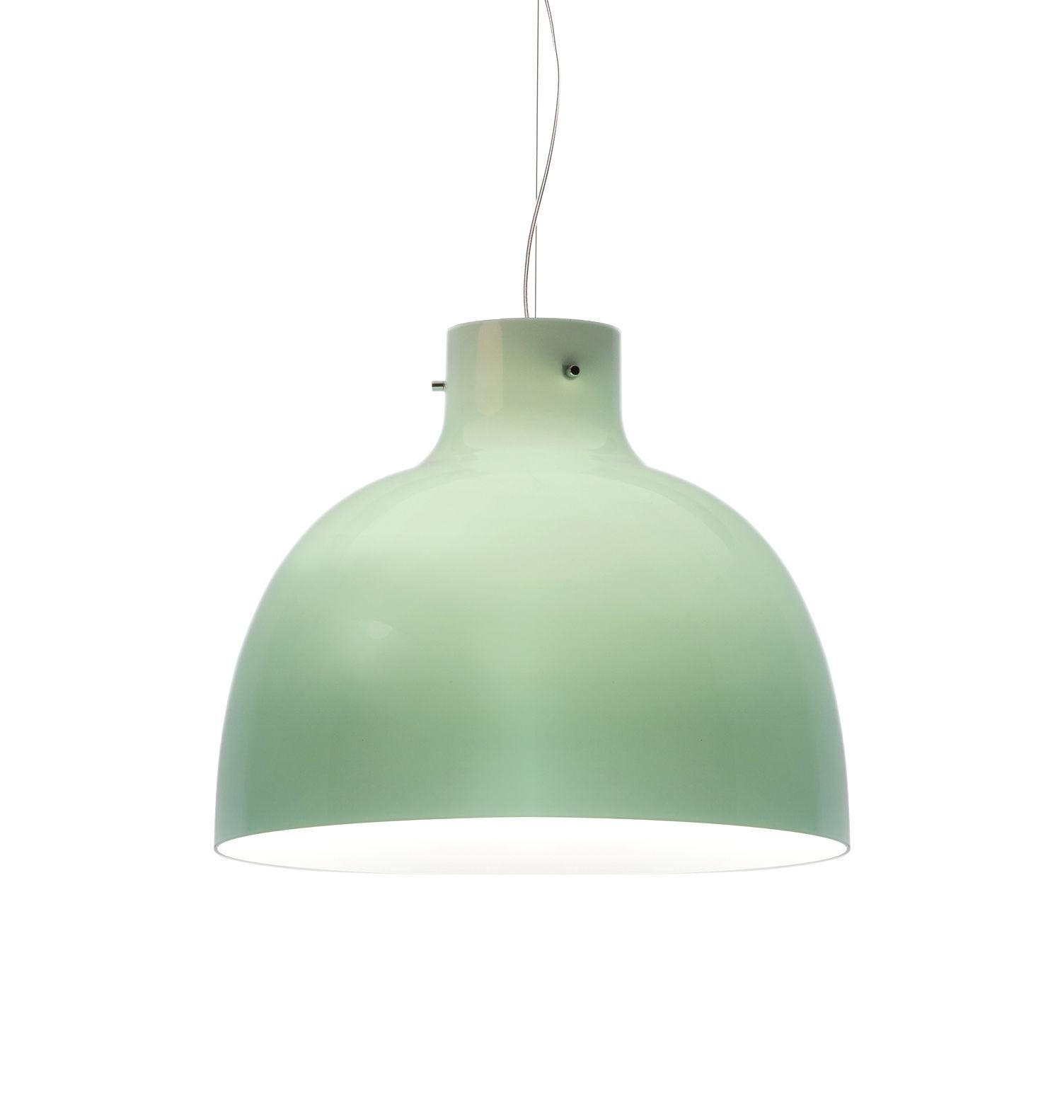 Illuminazione - Lampadari - Sospensione Bellissima Glossy - / Ø 50 cm - Plastica di Kartell - Verde brillante - Tecnopolimero termoplastico