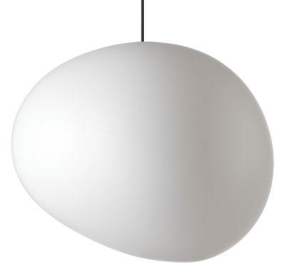 Illuminazione - Lampadari - Sospensione Gregg Outdoor XL - / L 60 cm di Foscarini - XL / L 60 cm - Bianco - Polietilene