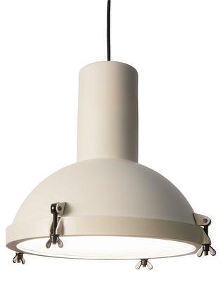 Illuminazione - Lampadari - Sospensione Projecteur 365 - by Le Corbusier / Riedizione 1954 di Nemo - Bianco sabbia - alluminio verniciato, Vetro opalino