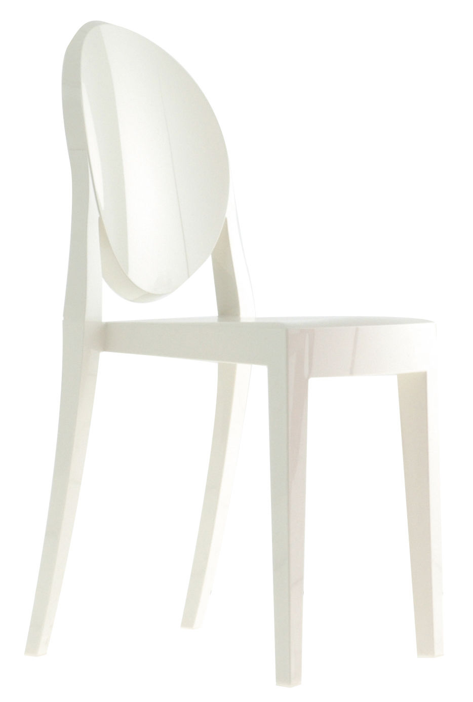 Furniture - Chairs - Victoria Ghost Stacking chair - opaque/ Polycarbonate by Kartell - Opaqua white - Polycarbonate