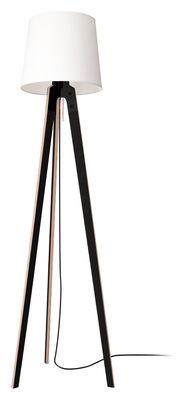 Leuchten - Stehleuchten - Stehleuchte n1 Stehleuchte / H 178 cm - Artificial - Pop Corn - Schwarz & Weiß - Buchenfurnier, Gewebe, Metall