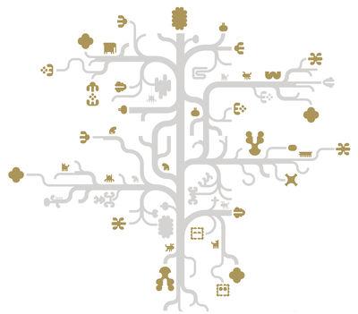 Interni - Sticker - Sticker Tree Gold di Domestic - Grigio - Dorato - Vinile