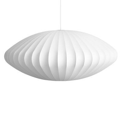 Luminaire - Suspensions - Suspension Bubble Saucer / XL - Motifs verticaux - Hay - Ø 127 cm / Blanc cassé -  Toile polymère, Acier